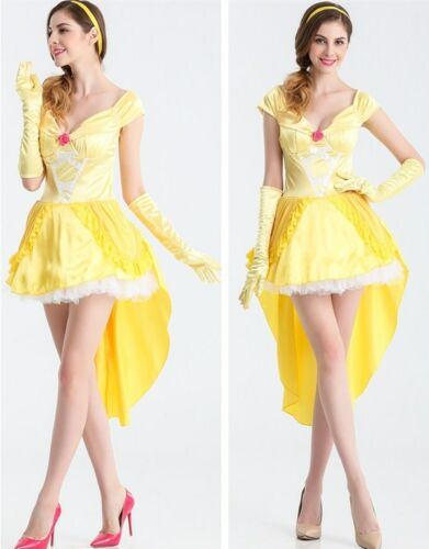 Beauty and The Beast - Belle Princess Halloween Costume Cosplay Adults Womens