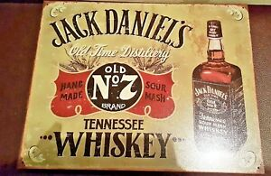 Jack Daniels Hand Crafted Tin Sign