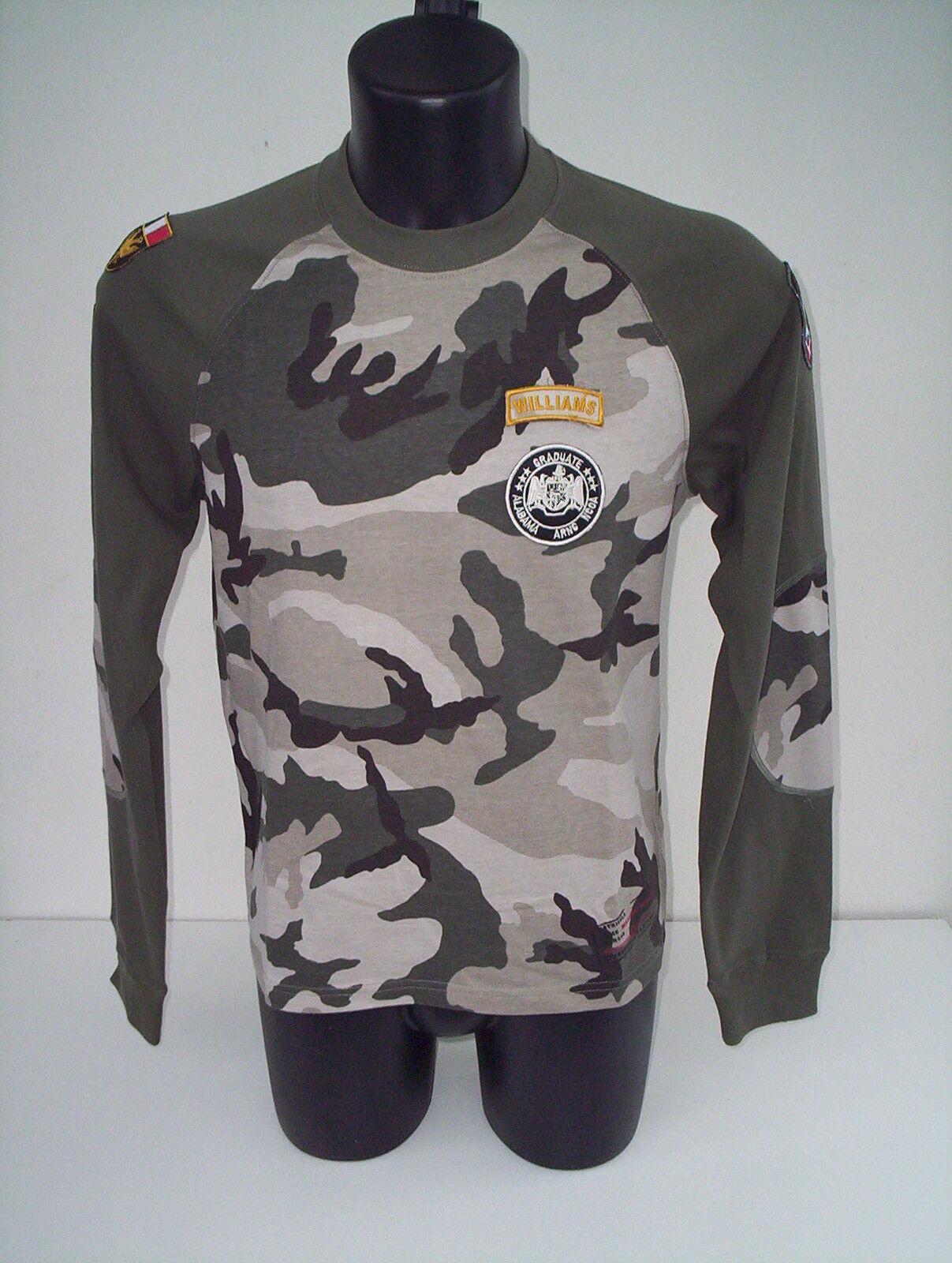 T-shirt   williams wilson , air america ,colore VERDE MILITARE  tg m