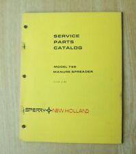 New Holland Model 795 Manure Spreader Service Parts Catalog Manual
