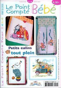 Oop French Cross Stitch Magazine Le Point Compte Bebe No 29 Point De Croix Ebay
