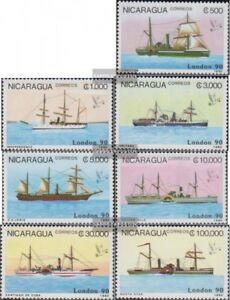 Nicaragua-2977-2983-kompl-Ausg-postfrisch-1990-Alte-Dampfschiffe