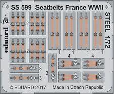 Eduard Zoom SS599 1/72 Seatbelts France WWII STEEL