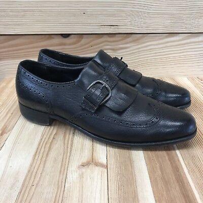 Bostonians Dress Shoes 11 AA Narrow Black Leather Wingtip Brogues Kiltie B157 | eBay