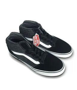 Vans-Milton-Hi-Top-Textile-Black-White-Men-039-s-Shoes-Unisex-Trainers-Uk-9-EU-43