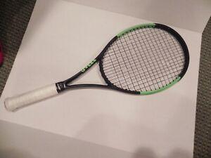 Black//Green Wilson Blade 98 18X20 V6.0 Tennis Racquet
