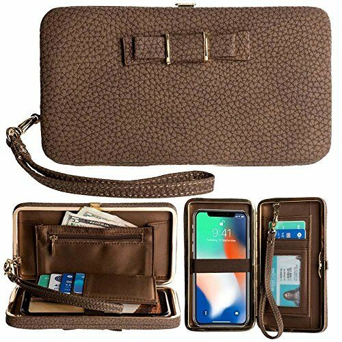 Women/'s Handbag Purse Pouch Wallet Clutch Card Cover Case for iPhone/&Samsung