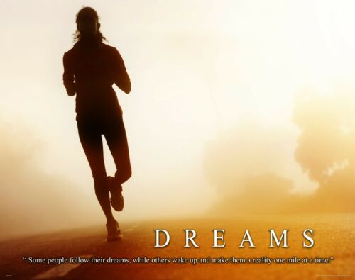 Running Motivational Poster Print Jogging Boston New York Marathon Wall Artwork