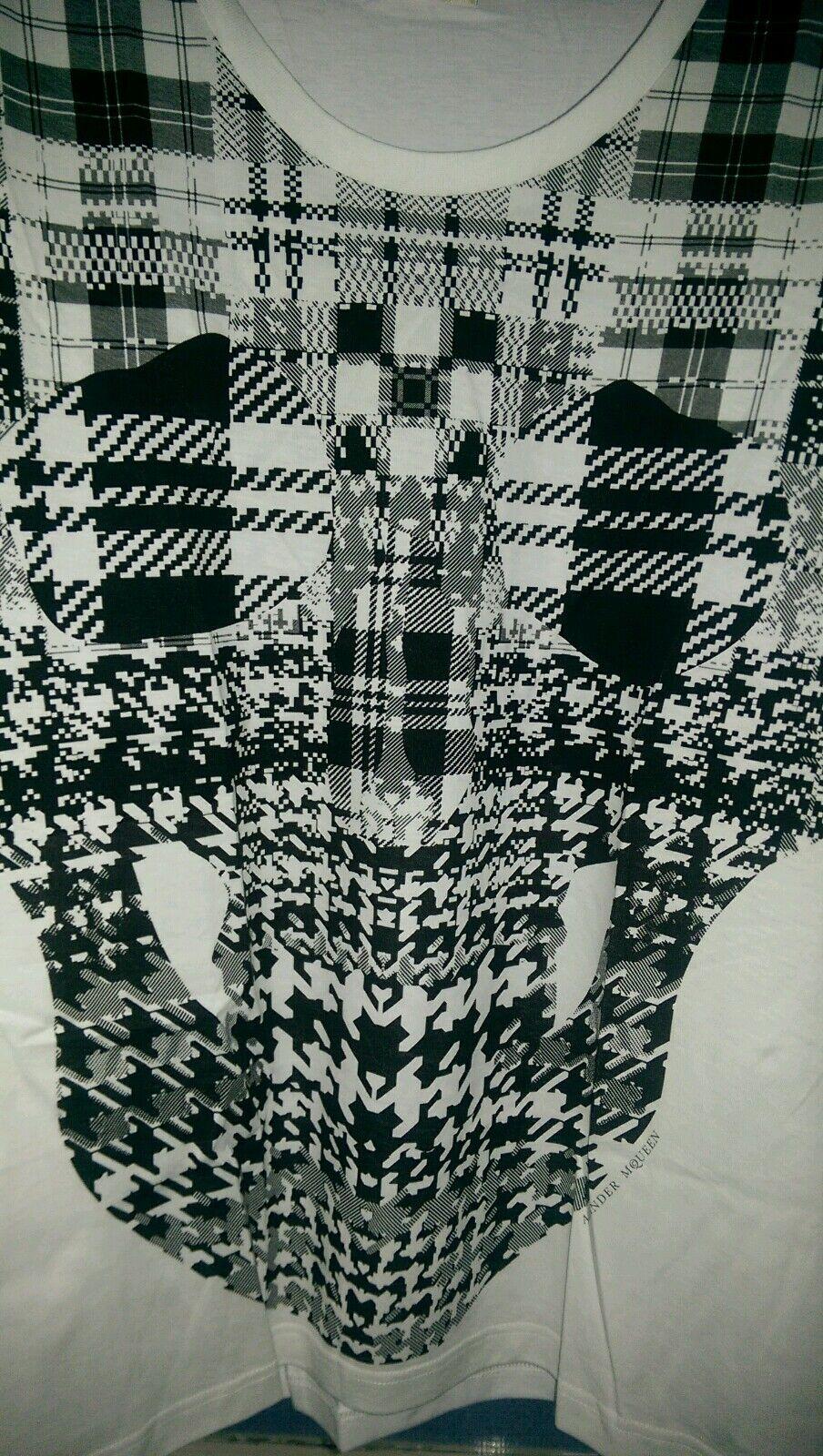 /'/'Polka Skull/' Long Sleeve Men Shirt Green BNWT Original Alexander McQueen