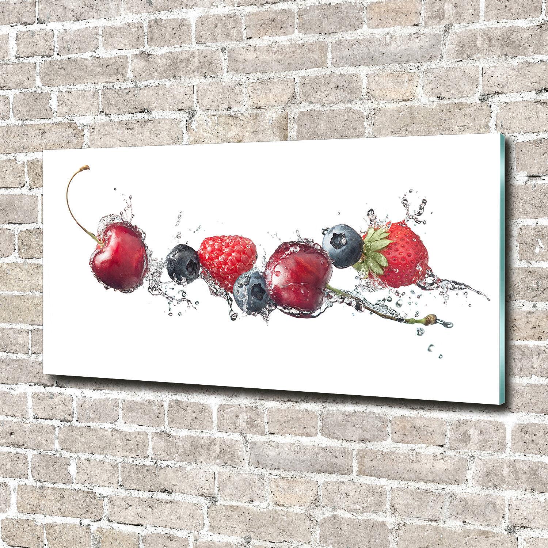Glas-Bild Wandbilder Druck auf Glas 140x70 Deko Essen & Getränke Waldfrüchte