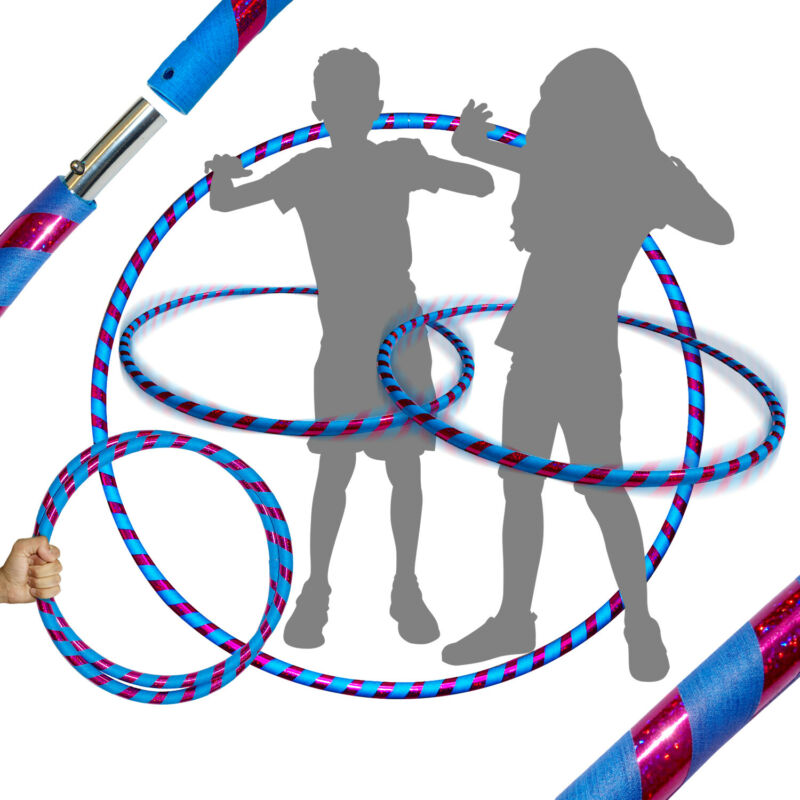 Pro Hula Hoop for Kids or Adults - Weighted Travel Hula Hoop For Exercise /Dance