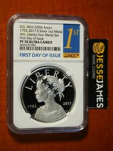 2017-S-AMERICAN-LIBERTY-PROOF-SILVER-MEDAL-NGC-PF70-ULTRA-CAMEO-FIRST-DAY-ISSUE