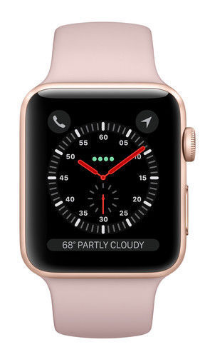 Apple Watch Series 3 Rose Gold With Pink Sand Sport Band Gps Cellular Mqjq2ll A For Sale Online Ebay