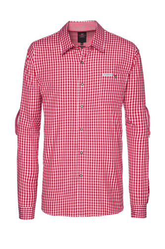 Trachtenhemd Campos 2 Stockerpoint rot weiss in S bis 5XL