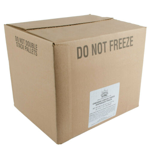 Case Free Ship USA *48 Only Carnival King 110 oz Cheddar Cheese Sauce Bags 4