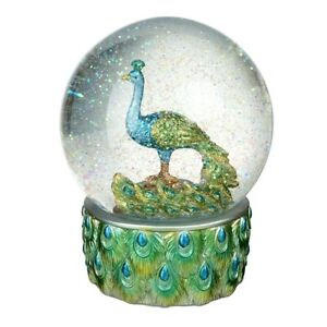 Heaven-Sends-Peacock-Snowglobe-Christmas-Home-Decoration