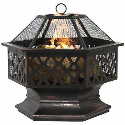 BCP Hex Shaped Fire Pit