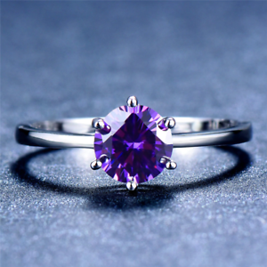 1-6ct-Round-Cut-Purple-Amethyst-Engagement-Ring-14k-White-Gold-Finish-Solitaire