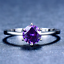 1-6ct-Round-Cut-Purple-Amethyst-Engagement-Ring-14k-White-Gold-Finish-Solitaire thumbnail 1