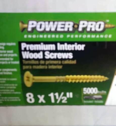 star drive Hillman interior wood screws 5000 count box 25 lbs 8 x 1 1//2 torx