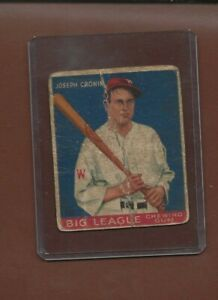 Details About 1933 Goudey Chewing Gum Baseball Card 63 Joe Cronin Washington Hof Poor