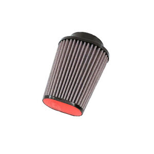 DNA-Filter-Oval-66mm-Inlet-80mm-Length-Leather-Top-Red-PN-OV-6600-80-L-R