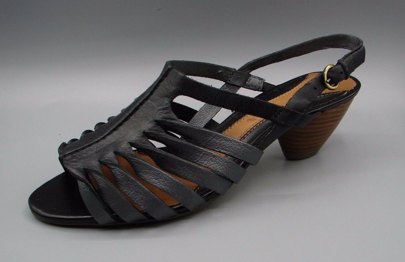 """TIDAL STREAM"" Clark's Women's Black COMBI Leather Sandals size UK 4.5 D."