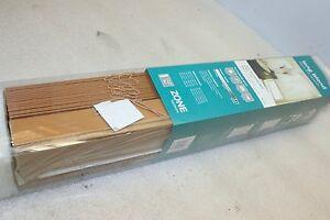 Zone-Hardware-PVC-Teak-Long-Island-50mm-Eco-Venetian-Blinds-60-x-120cm-NEW