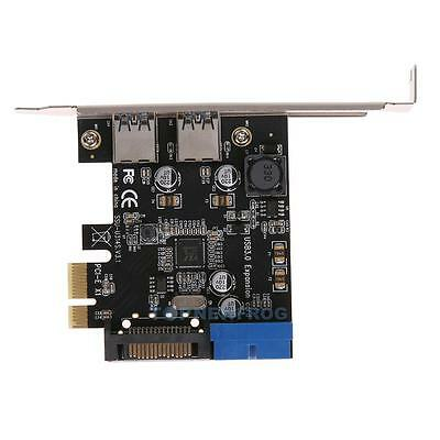PCI-E to USB3.0 Dual Port PCI Express Expansion Card 19-Pin Interface Connector