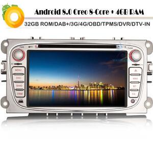 7-Wifi-Android-8-DVD-Bluetooth-Radio-GPS-Sat-Nav-DAB-Autoraido-Ford-Galaxy-Mk3