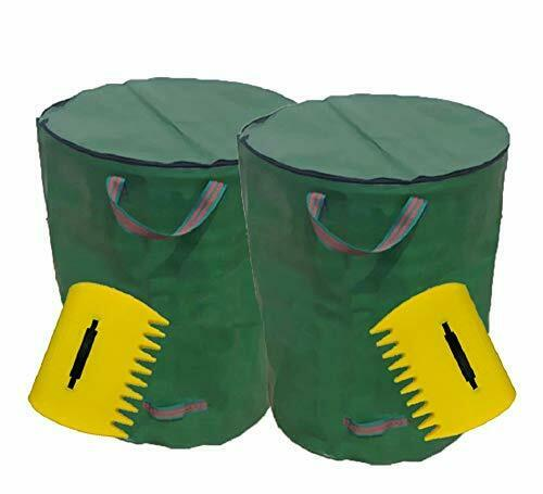 FIAMER Garden With Lid Garbage Bag Deciduous Palm Lawn Pool 72 Gallon