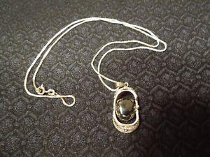 Vintage zeidell sterling silver filigree hematite pendant necklace image is loading vintage zeidell sterling silver filigree hematite pendant amp aloadofball Images
