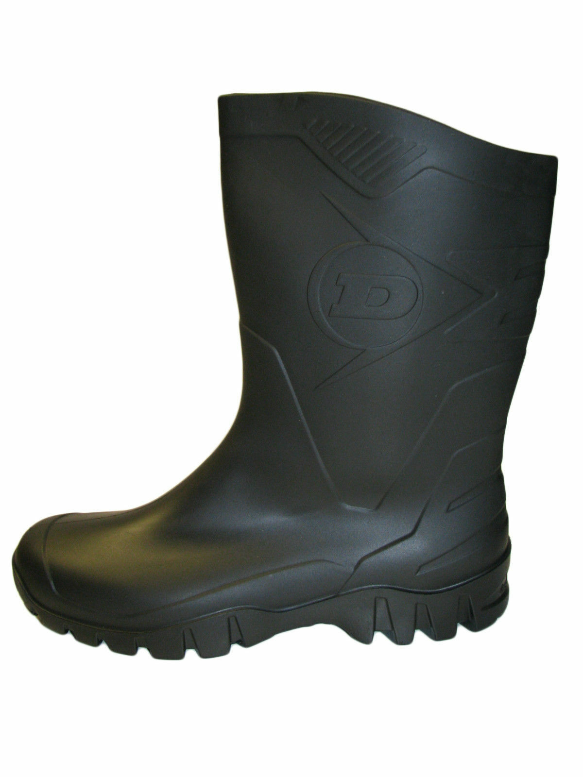 Unisex Dunlop Half Height Wide Leg Wellies Black sizes 4 to 12