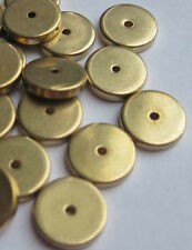 50 Solid Brass disc spacer washer beads 2mm x 10mm