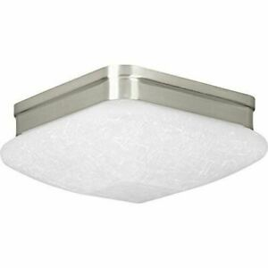 Progress Lighting Eal 9 In W Brushed Nickel Led Flush Mount Light Energy Star
