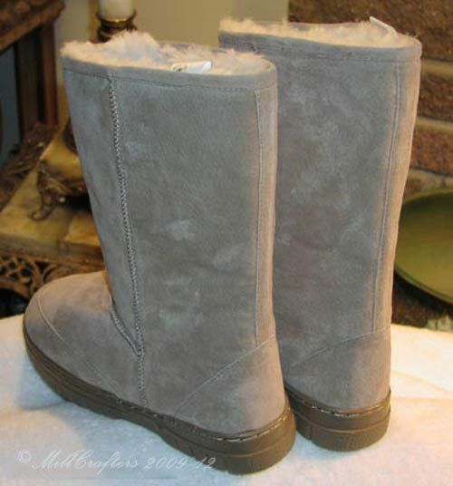 NEW MENS BEST MID-CALF STYLE SHEEPSKIN BOOTS TAN SIZE 7 8 9 10 11 12 13 14 9844
