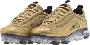 58d654a5981 Nike Air Vapormax  97 GS SZ 7Y Metallic Gold Varsity Red Black ...