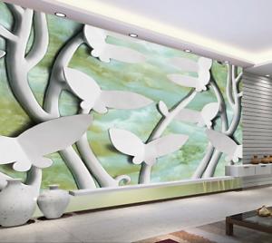 3D White Butterflys 74 Wall Paper Murals Wall Print Wall Wallpaper Mural AU Kyra
