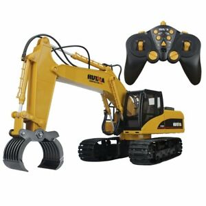 Super Powerful Functional DIE-CAST Remote Control Excavator timber Grabber
