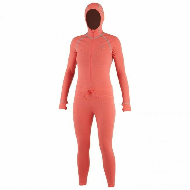 NWT Airblaster Womens Classic Ninja Suit Layer XL X-Large Snowboard Coral PR911