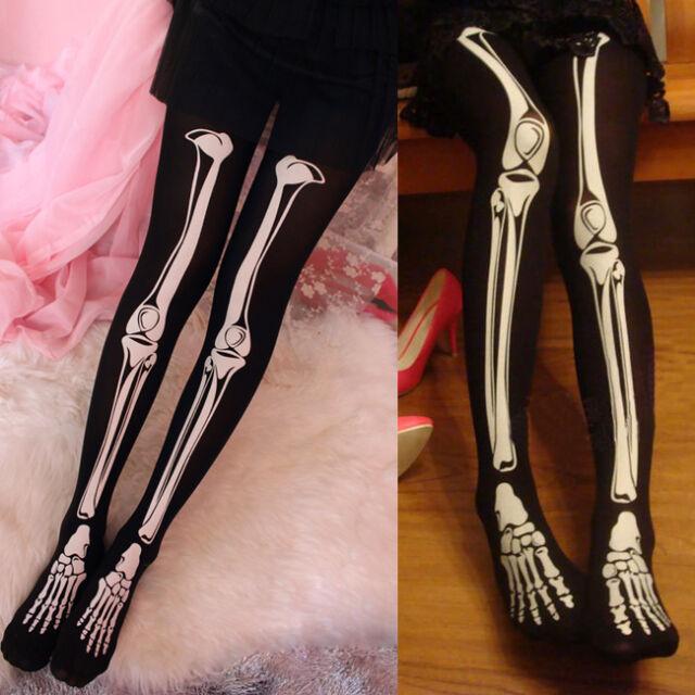 New Punk Cool Skeleton Printed Pants Pantyhose Leggings Stockings Tights Hot