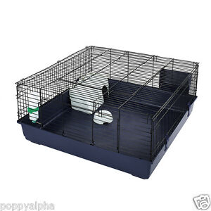 Massive indoor square rabbit guinea pig cage by little for Large indoor guinea pig cages