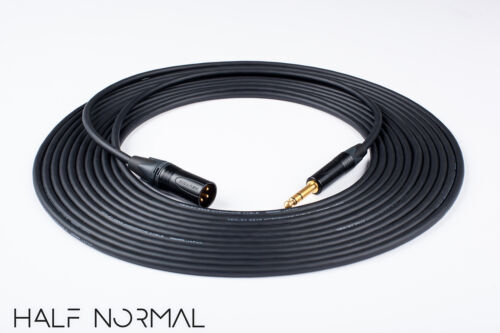 "40/' Mogami 2549 Standard Balanced Neutrik Gold XLR Male to 1//4/"" TRS Black"