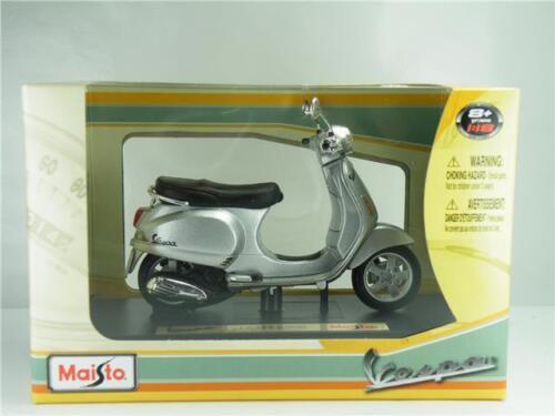 VESPA LX 125 2005 Modelo Scooter Ciclomotor Maisto escala 1:18 Plata 05092S K8Q