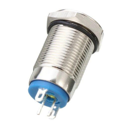 Excellway® LED Druckknopf Schalter gelb mit Verriegelung ON//OFF 12mm Auto u.s.w.