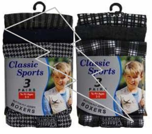 9-15 anni Easy Care Boxer Biancheria Intima 12 Paia Di Ragazzi Bambini Controllo Boxer