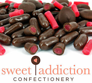 Amazing Details About 500G Premium Real Dark Chocolate Covered Raspberry Bullets Bulk Candy Buffet Download Free Architecture Designs Embacsunscenecom