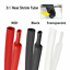 thumbnail 34 - Marine Grade Dual-Wall Adhesive Glue Lined Heat Shrink Tube 3:1 Ratio Black/Red