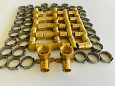 62 Pcs 34 Pex Crimping Fittings 2 Drop Ear Elbows With Tee Coupling Elbow