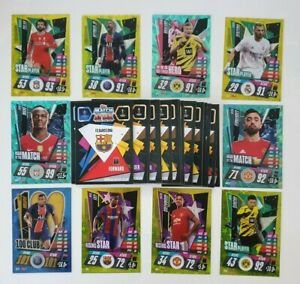 2020-21-Match-Attax-UEFA-Champions-League-Lot-of-100-cards-incl-10-shiny